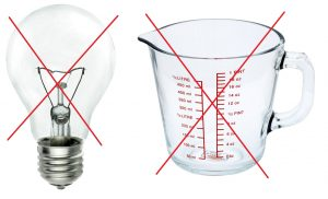 Recycle Week, raising awareness - do not put light bulbs and ovenware in household recycling