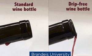 Une bouteille de vin qui ne goutte pas !