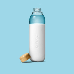 Glass bottle on the go