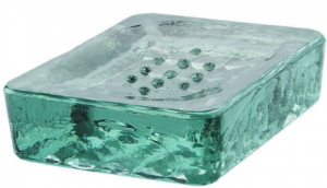 Recycled glass soap dish stocking filler gift
