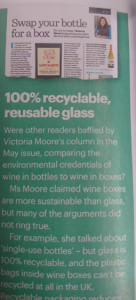 Don't believe the wine box hype – keep recycling!