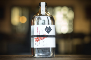 Pharmaceutical bottle repurposed for LoneWolf gin
