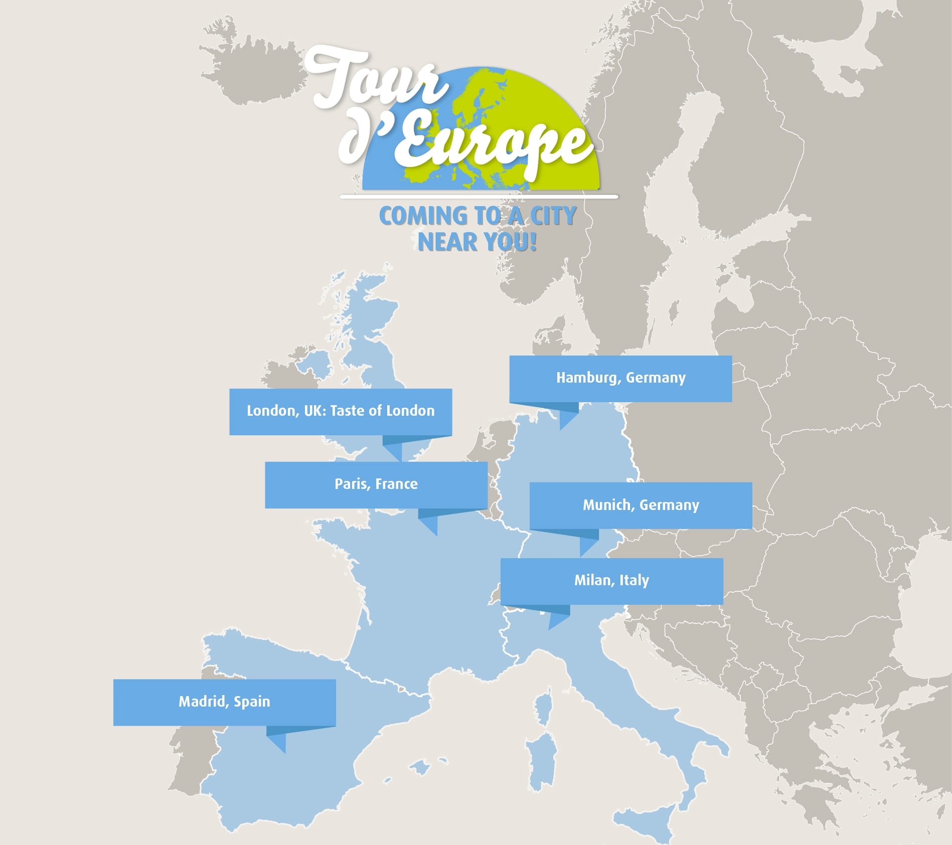 Visual Site Map: #MapYourTaste On The Tour D'Europe