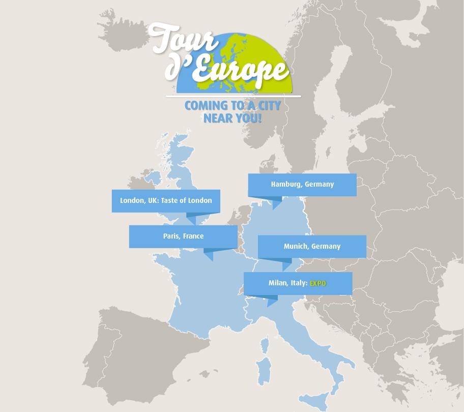 #MapYourTaste : le tour d'Europe